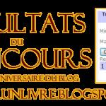 Résultats du concours : 1er anniversaire du blog !